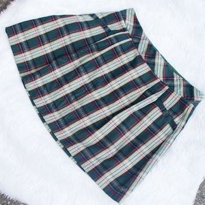 Green Plaid Old Navy Mini Skirt